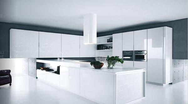 Nowoczesne białe meble kuchenne