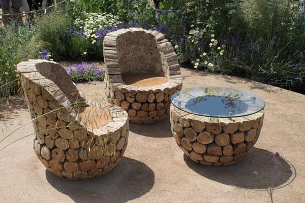 Pomysły na drewnine meble ogrodowe