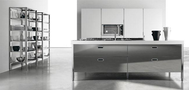 Zdjęcia kuchni ze stali