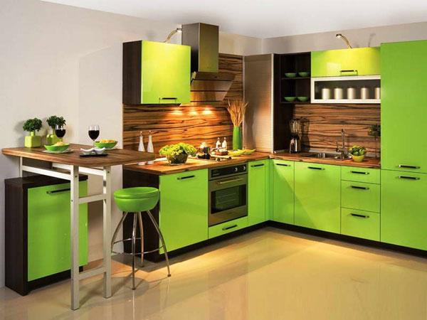 Kuchnia w zielonej aranżacji