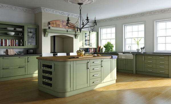Zielona kuchnia przykład