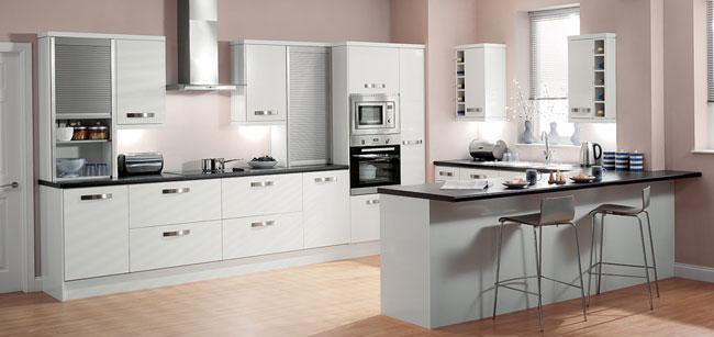 Nowoczesna biała kuchnia na wyski połysk