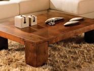 Drewniana ława do salonu