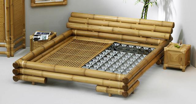 Łóżko z bambusa