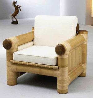 Fotel z bambusa