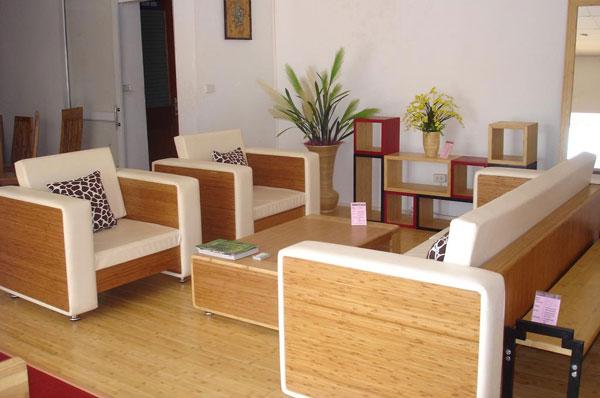 Bambus w salonie