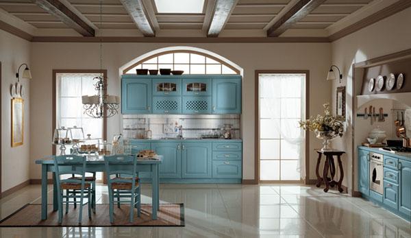 Niebieskie meble kuchenne klasyczne