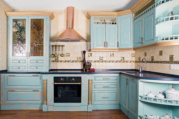 Błękit w kuchni